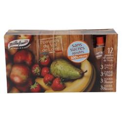 12 Gourdes de purée de fruits